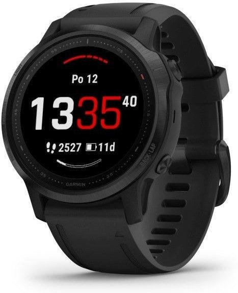 Ceas Garmin Garmin fenix6S PRO Glass, Black/Black Band (MAP/Music)