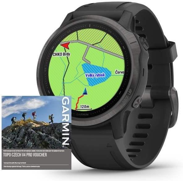 Ceas Garmin Garmin fenix6S PRO Sapphire Gray/Black Band (MAP/Music)