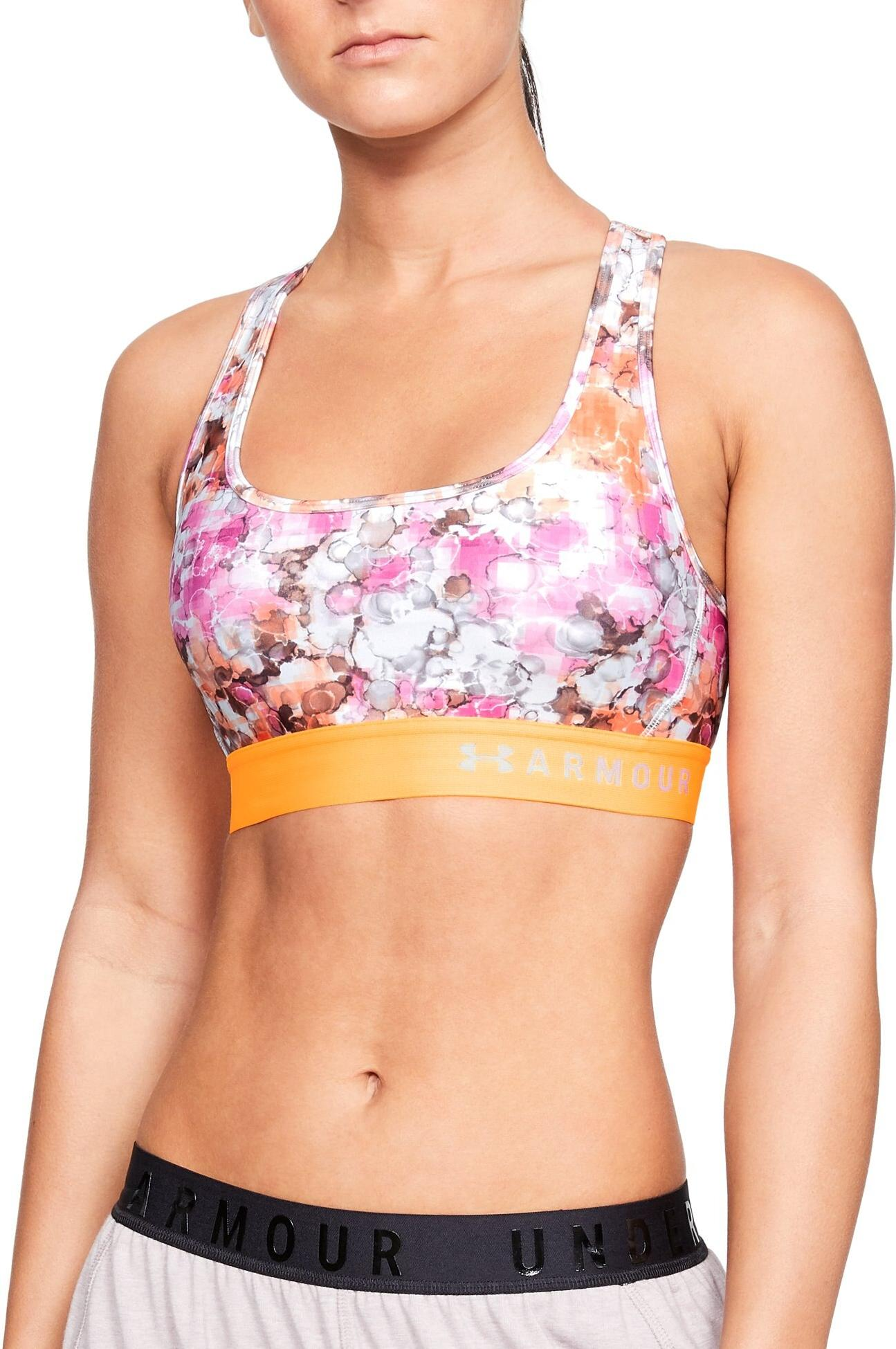 Bustiera Under Armour Armour Mid Crossback Printed Bra