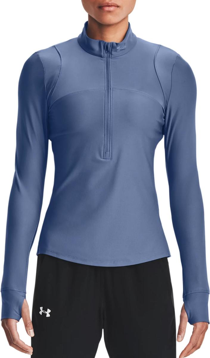 Tricou cu maneca lunga Under Armour UA Qualifier Half Zip-BLU